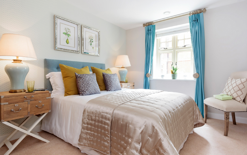 Bedroom shot from our property photography service available across Hampshire, Southampton and the UK.