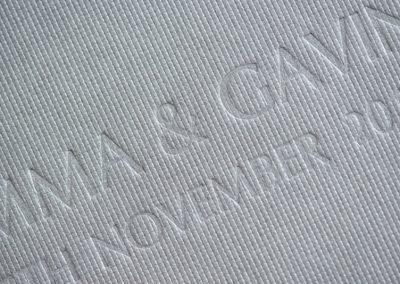 Engraved bespoke wedding albums