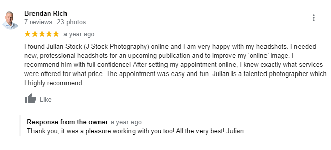 Headshot photography review